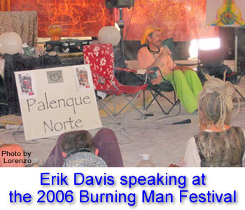 Erik Davis delivering his 2006 Palenque Norte Lecture at the Burning Man Festival