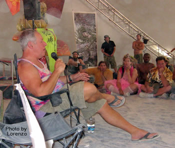 Nick Sand delivering his 2006 Palenque Norte Lecture at the Burning Man Festival