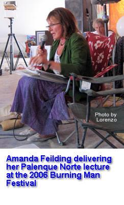 Amanda Feilding delivering her 2006 Palenque Norte Lecture