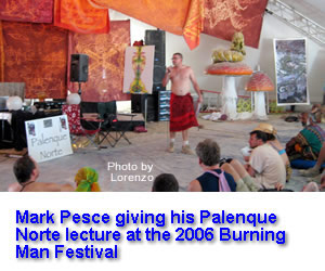 Mark Pesce delivering his 2006 Palenque Norte Lecture at the Burning Man Festival
