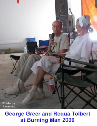 George Greer and Requa Tolbert speaking at the 2006 Palenque Norte Lectures