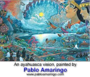 Painting by Pablo Amaringo