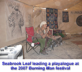 Seabrook Leaf giving his 2007 Palenque Norte Lecture at the Burning Man Festival