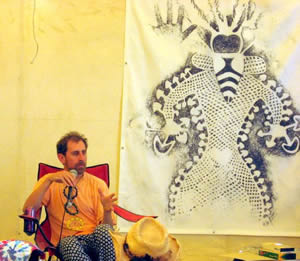 Eric Davis delivering his 2007 Palenque Norte Lecture at the Burning Man Festival