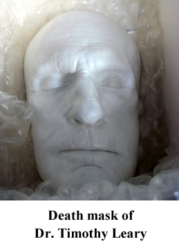 Death mask of Dr. Timothy Leary