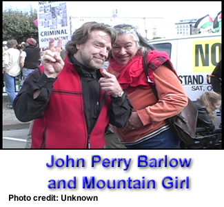 John Perry Barlow and Mountain Girl