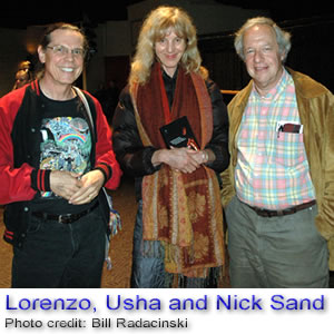 Lorenzo with Usha and Nick Sand