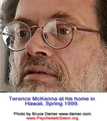 Terence McKenna at his home in Hawaii, Spring 1999