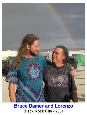 Bruce Damer & Lorenzo at Burning Man 2007