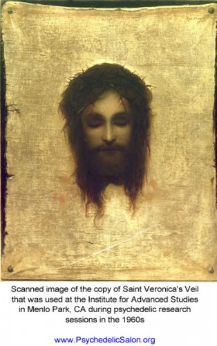 Saint Veronica's Veil image used in the Menlo Park experiments