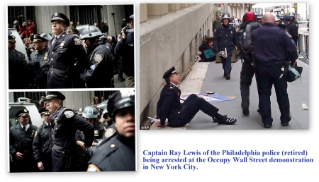 Occupy Wall Street Ray Lewis beign arrested