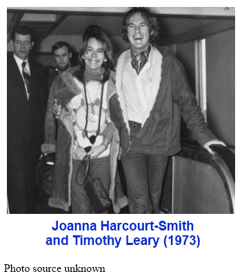Joanna Harcourt-Smith & Timothy Leary