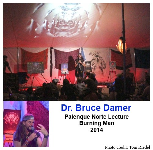 Bruce Damer delivering a Palenque Norte Lecture
