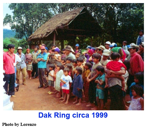 Dak Ring village, Viet Nam highlands 1999