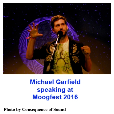 Michael Garfield speaking at Moogfest 2016