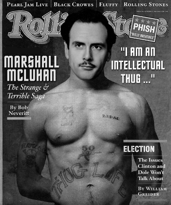 Marshall McLuhan on the cover of Rolling Stone Magazine