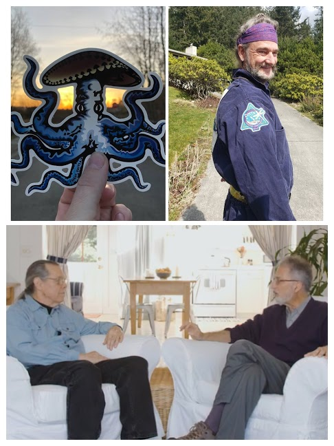 Terence McKenna's logo, Bruce Damer's flight suit, Lorenzo and Charlie Grob