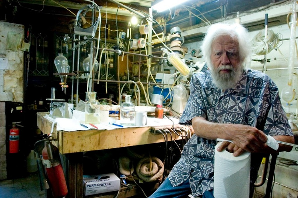 Psychedelic researcher Sasha Shulgin in his lab